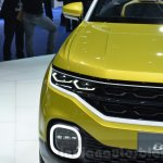 VW T-Cross Breeze concept headlamp at the Geneva Motor Show Live