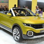 VW T-Cross Breeze concept headlamp, grille, fog lamp at the Geneva Motor Show Live
