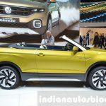 VW T-Cross Breeze concept side at the Geneva Motor Show Live