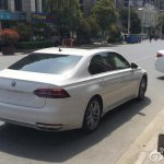 White VW Phideon rear view spied in China