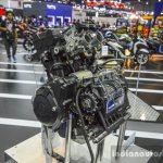 Yamaha R3 MT-03 engine cut-section at 2016 BIMS