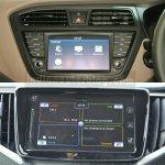Maruti Baleno vs Hyundai Elite i20 display Comparison Review