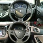 Maruti Baleno vs Hyundai Elite i20 steering wheel Comparison Review
