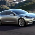 Tesla Model 3 official image front three quarters right side