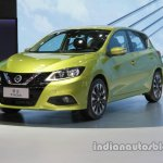 2016 Nissan Tiida at Auto China 2016 front three quarters left side