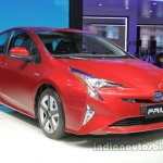 2016 Toyota Prius front three quarters right side at Auto China 2016