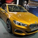 BMW Concept Compact Sedan front three quarters at Auto China 2016