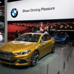 BMW Concept Compact Sedan front three quarters left side second image at Auto China 2016