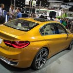 BMW Concept Compact Sedan rear three quarters at Auto China 2016