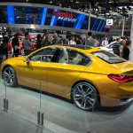 BMW Concept Compact Sedan rear three quarters left side at Auto China 2016