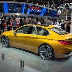 BMW Concept Compact Sedan rear three quarters left side at Auto China 2016