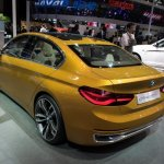 BMW Concept Compact Sedan rear three quarters second image at Auto China 2016