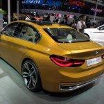 BMW Concept Compact Sedan rear three quarters second image at Auto China 2016