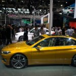 BMW Concept Compact Sedan side profile at Auto China 2016