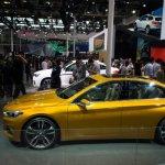 BMW Concept Compact Sedan side profile at Auto China 2016