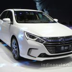 BYD Qin 100 front three quarters at Auto China 2016