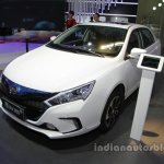 BYD Qin EV300 front three quarters at Auto China 2016
