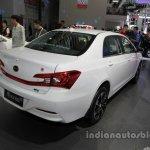 BYD Qin EV300 rear three quarters at Auto China 2016