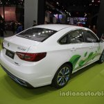 Dongfeng S50-EV at Auto China 2016 rear three quarters