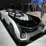 Faraday Future F-Zero front three quarters at Auto China 2016