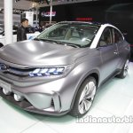 GAC Trumpchi EV Coupe front three quarters at Auto China 2016