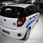 JAC iEV6e rear three quarters at Auto China 2016