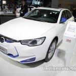 JAC iEV7 front at three quarters Auto China 2016