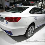 JAC iEV7 rear three quarters right side at Auto China 2016