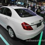 Methanol-capable Geely Emgrand at Auto China 2016 rear three quarters