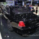 Rolls-Royce Ghost Black Badge rear three quarters left side at Auto China 2016