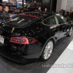 Tesla Model S (facelift) rear three quarters at Auto China 2016