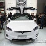 Tesla Model X rear doors open at Auto China 2016