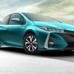 Toyota Prius Prime (PHEV) front three quarter press image