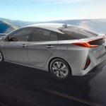 Toyota Prius Prime (PHEV) rear three quarter press image