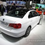 VW Jetta 25th Anniversary Edition rear three quarters right side at Auto China 2016