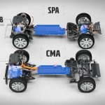 Volvo T5 Twin Engine on CMA platform and Volvo T8 Twin Engine AWD on SPA platform