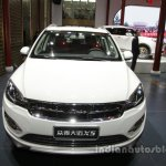Zotye X5 white at Auto China 2016 front