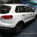 Zotye X5 white at Auto China 2016 rear three quarters right side