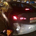 2016 Hyundai Elantra rear three quarter spied in Chennai