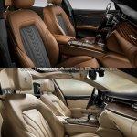 2016 Maserati Quattroporte (facelift) vs. 2013 Maserati Quattroporte interior front seats