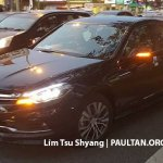 2016 Proton Perdana front three quarter spied near a dealership