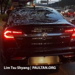 2016 Proton Perdana rear spied near a dealership