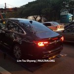 2016 Proton Perdana rear three quarter spied near a dealership