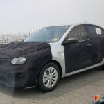 2017 Kia Rio sedan front three quarters spy shot