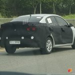 2017 Kia Rio sedan spy shot