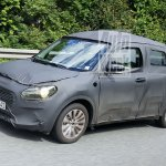 2017 Maruti Swift front three quarter spied in Germany