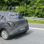 2017 Maruti Swift rear end spied in Germany