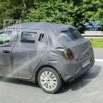 2017 Maruti Swift rear three quarter spied in Germany
