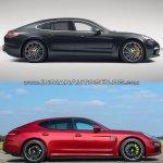 2017 Porsche Panamera vs. 2014 Porsche Panamera profile