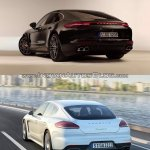 2017 Porsche Panamera vs. 2014 Porsche Panamera rear three quarters